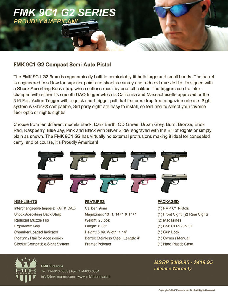 FMK Exclusive Dealer For South America - Miami Guns Export
